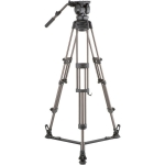 Libec LX10 2-Stage Aluminum Tripod System with Floor-Level Spreader