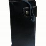 กระเป๋าสตางค์ หนังวัวแท้ แบบยาว สีดำ ลายพื้นสีมันวาว (Cow-08)