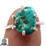 ▽แหวนเงินแท้ 925 - Turquoise (size 7)