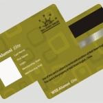 การพิมพ์ การ์ด 0.7 บัตรแถบแม่เหล็ก พื้นเมทีลลิค