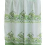 ผ้าม่านเดี่ยว Single ลายช่อดอกกุหลาบ สีเขียว (Curtain-s 11)