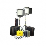 2pc CAMTREE Shine 1000-LED Video Lights (CT-1-10012) with Power Pack