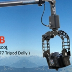 PROAIM 16ft PoleJib Supporting Cameras Weighing upto 1.9kg / 4.2lbs ( Jib Arm, Tripod Stand (CST-100), Motorized Pan-Tilt Head, D-77 Tripod Dolly ) (PLJIB-16)