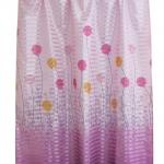 ผ้าม่านเดี่ยว Single ลายดอกปุยวิ้ง สีม่วง (Curtain-s 5)