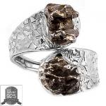 ▽แหวนเงินแท้ 925 - Campo Del Cielo Meteorite (size 7.5)