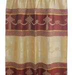 ผ้าม่านเดี่ยว Single ลายภู่หัวใจ สีน้ำตาลแดง (Curtain-s 20)