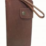 กระเป๋าสตางค์ หนังวัวแท้ แบบยาว สีน้ำตาล ลายพื้นสีด้าน (Cow-06)