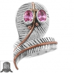 ▽แหวนเงินแท้ 925 - Pink Kunzite (size 8)