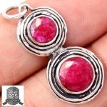 ▽จี้เงินแท้ 925 - ทับทิมอินเดีย (Indian Ruby)