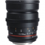 Bower 24mm T1.5 Ultra-Fast Wide-Angle Cine Lens For Canon EF Mount Cameras