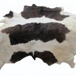 หนังขนลูกวัวแท้ ตกแต่ง ลายหลังอาน รุ่นไม่มีหาง สีผสมดำน้ำตาล สีขาว (leather 7)