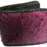 กระเป๋าสตางค์หนังจระเข้ ลายหนังตัดต่อ 3D สีม่วง/Wallet Color (Wcd-4)