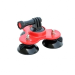Filmcity Triple Suction Cup Mount (Red) for Gopro (FC-TSC-R)