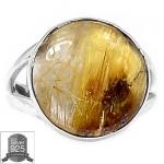 ▽แหวนเงินแท้ 925 - ไหมทอง Golden Rutile (size 6)