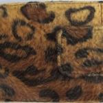 กระเป๋าสตางค์แฟชั่น ลายเสือพรางลายหยดน้ำ สีน้ำตาลอ่อน ด้านในสีน้ำตาล แบบสั้น (wf 11)