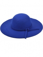 หมวกปีกกว้างเที่ยวทะเล สีน้ำเงิน ผ้าสักหลาด