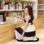 ชุดเดรสยาวแฟชั่นเกาหลี สีขาว-ดำ ผ้าชีฟอง คอกลม แขนกุด เอวยืด ซับใน ขนาดไซส์ L thumbnail 7