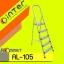 AL-105:บันไดอลูมิเนียม เอนกประสงค์ 5 ขั้น ที่เบาและแข็งแรง เคลื่อนย้ายง่าย เก็บสะดวก thumbnail 1