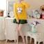 เสื้อกันหนาวแฟชั่นเกาหลี สีเหลือง คอกลม แขนยาว ลายนกฮูก ผ้าไหมพรมมีขน เนื้อผ้านุ่มใส่สบาย thumbnail 4