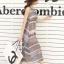 ชุดเดรสยาวแฟชั่นเกาหลี Maxi Dress สีเบจ น้ำเงิน พิมพ์ลายกราฟฟิค คอกลม แขนกุด เอวยืด ผ้าชีฟอง ซับใน thumbnail 4