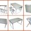 โต๊ะปิกนิกพับได้ KOMMET รุ่น PX-029-F พร้อมเก้าอี้ 4 ที่นั่ง thumbnail 6