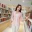 เสื้อสูททำงานผู้หญิงสวยๆ สีชมพูโอรส ผ้าลูกไม้ผสมเลื่อมทอง ทรงเข้ารูป แขนยาว แต่งกระเป๋าหลอก ขนาดไซส์ M thumbnail 6