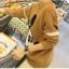 เสื้อแฟชั่นเกาหลี แขนยาวไหมพรม สีน้ำตาลพิมพ์ลายมิ้กกี้เมาส์ คอกลม เอวจั๊ม เนื้อผ้าหนานุ่ม thumbnail 4