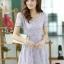 ชุดเดรสทำงานแฟชั่นเกาหลี สีม่วง ผ้าลูกไม้ซับใน คอกลม แขนสั้น ซิปข้าง ไซส์ M thumbnail 1
