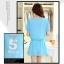 ชุดเดรสสั้นน่ารักๆ สีฟ้า ผ้าชีฟอง สกรีนตัวเลข คอกลม เอวยืด ซับใน ขนาดไซส์ L thumbnail 7