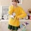 เสื้อกันหนาวแฟชั่นเกาหลี สีเหลือง คอกลม แขนยาว ลายนกฮูก ผ้าไหมพรมมีขน เนื้อผ้านุ่มใส่สบาย thumbnail 7