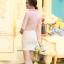 เสื้อเชิ๊ตทำงานผู้หญิง สีชมพูอ่อน ผ้าชีฟอง คอจีนจับจีบน่ารักๆ แขนยาว กระดุมผ่าหน้า thumbnail 4