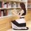 ชุดเดรสยาวแฟชั่นเกาหลี สีขาว-ดำ ผ้าชีฟอง คอกลม แขนกุด เอวยืด ซับใน ขนาดไซส์ L thumbnail 8