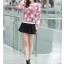เสื้อแฟชั่นเกาหลีน่ารักๆ สีม่วง พิมพ์ลายเก๋ๆ ผ้าขนนุ่มสบาย คอกลม แขนยาว เอวจั๊ม thumbnail 8