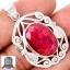 ▽จี้เงินแท้ 925 - ทับทิมอินเดีย (Indian Ruby) thumbnail 1