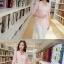 เสื้อสูททำงานผู้หญิงสวยๆ สีชมพูโอรส ผ้าลูกไม้ผสมเลื่อมทอง ทรงเข้ารูป แขนยาว แต่งกระเป๋าหลอก ขนาดไซส์ M thumbnail 4