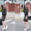 ชุดเดรสสั้นน่ารักๆแฟชั่นเกาหลี เซ็ท 2 ชิ้น ปักลายขวางด้วยหลากสีสดใส เสื้อแขนยาว คอกลม คู่กับ กระโปรงสั้นเข้ารูป ยืดตามตัว เอวยางยืด thumbnail 5