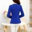 เสื้อสูททำงานสีน้ำเงิน ทรงเข้ารูป คอปก แขนยาว ผ้าโพลีเอสเตอร์ มีซับใน ไซส์ M thumbnail 6