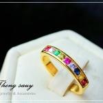 แหวนนพเก้า หุ้มทองคำแท้