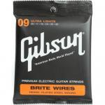 สายกีตาร์ไฟฟ้า Gibson Brite Wires Ultra Light 009-042