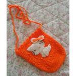 <พร้อมส่ง> กระเป๋าห้อยแฮนด์เมดคิตตี้ Hello Kitty สีส้ม