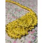 <พร้อมส่ง> แฮนด์เมดสร้อยคอสวารอฟสกี้ Swarovski ลายดอกไม้สีเหลือง แบบ2