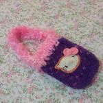 <พร้อมส่ง> กระเป๋าใส่มือถือ ไอโฟน สมาร์ทโฟน แฮนด์เมดคิตตี้ Hello Kitty แบบ4