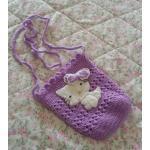 <พร้อมส่ง> กระเป๋าห้อยแฮนด์เมดคิตตี้ Hello Kitty สีม่วง
