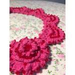 <พร้อมส่ง> แฮนด์เมดสร้อยคอสวารอฟสกี้ Swarovski แฟชั่นวินเทจ Vintage ดอกไม้สีชมพู แบบ5
