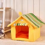 <สอบถามราคา> บ้านน้องหมาแมว ที่นอนน้องหมาแมว เบาะนอนน้องหมาแมว นำเข้าจากญี่ปุ่น ทรงบ้านสีครีม