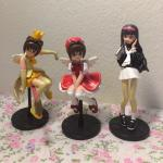 <พร้อมส่ง> ชุดโมเดล การ์ดแค็ปเตอร์ซากุระ Card Captor Sakura 3 ตัว