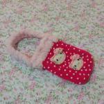 <พร้อมส่ง> กระเป๋าใส่มือถือ ไอโฟน สมาร์ทโฟน แฮนด์เมดคิตตี้ Hello Kitty แบบ2