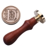 D Sealing Wax Classic Initial Wax Seal Stamp Alphabet Letter MRetro Wood (Intl)