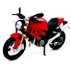 Maisto โมเดลรถ บิ๊กไบค์ DUCATI MONSTER 696 สีแดงดำ (Scale 1:12)