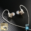 Small Talk RM-580 (Gold) Double Moving - Coil Earphone - REMAX